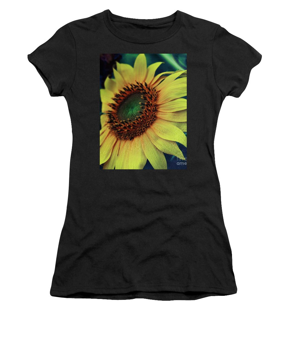 Sunflowers Women's T-Shirt (Athletic Fit) featuring the photograph Sunflower by Vanessa GFG