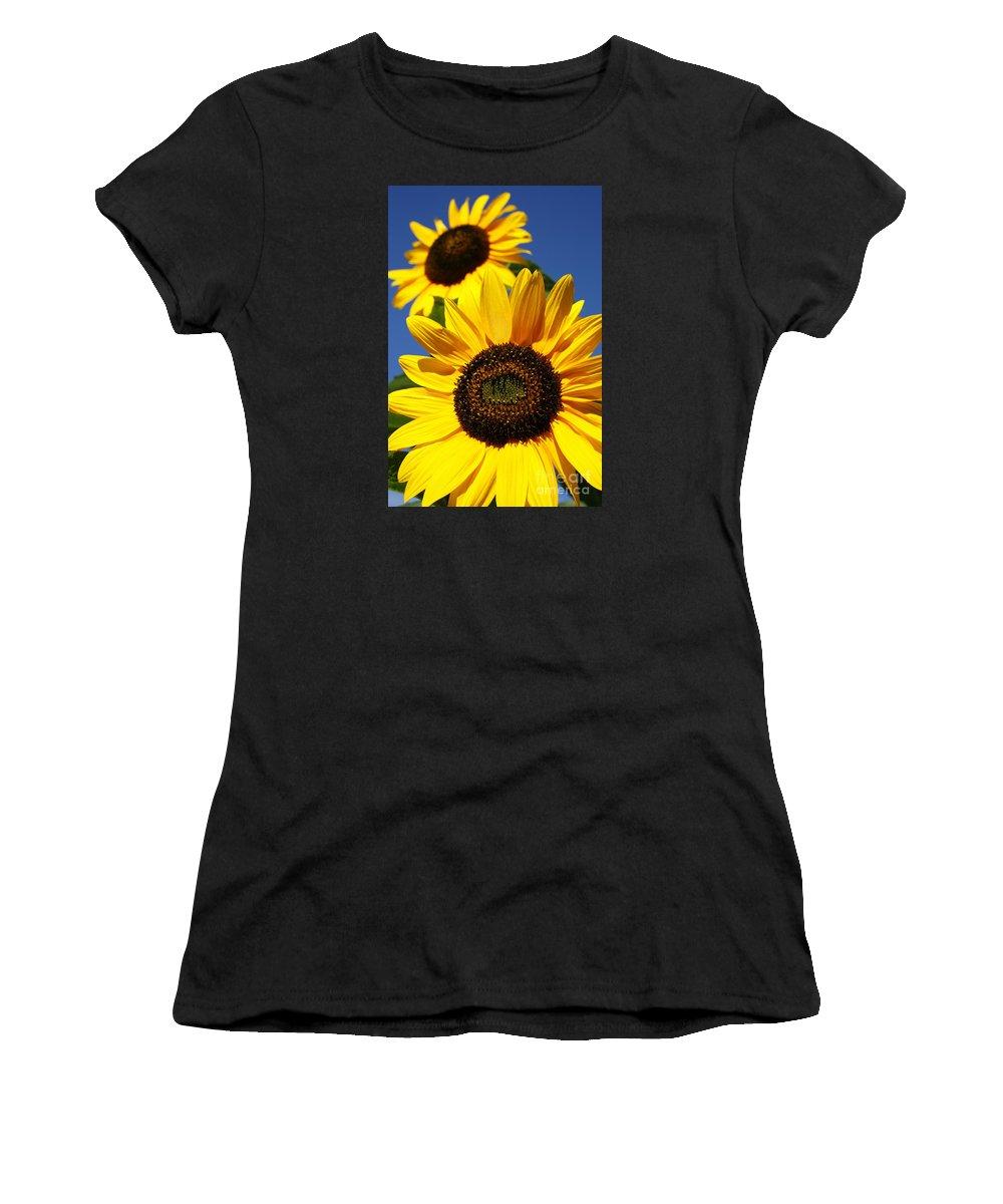 Sunflowers Women's T-Shirt featuring the photograph Sunflowers by Gaspar Avila