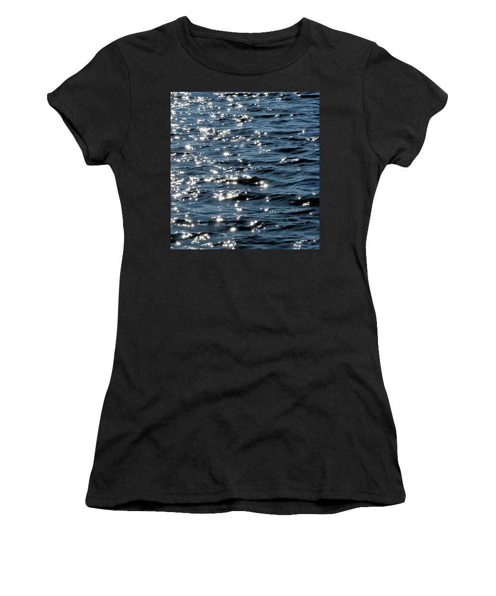 Sunlight Women's T-Shirt (Athletic Fit) featuring the photograph Sunlight Reflection by Michael Lazaridis