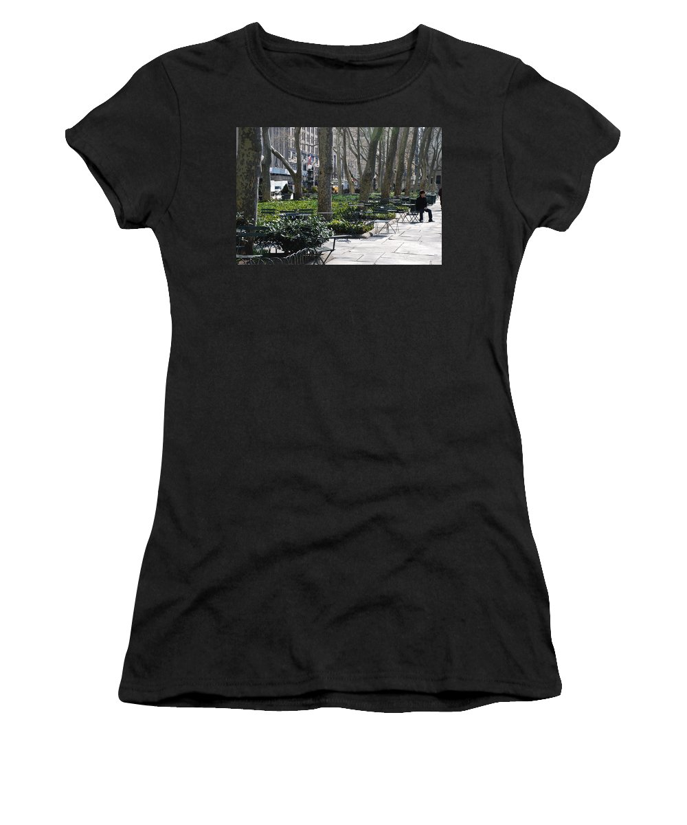 Parks Women's T-Shirt (Athletic Fit) featuring the photograph Sunny Morning In The Park by Rob Hans