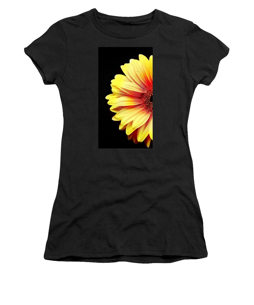 Sunny Side Over Easy Women's T-Shirt (Athletic Fit) featuring the photograph Sunny Side Over Easy by Diana Angstadt