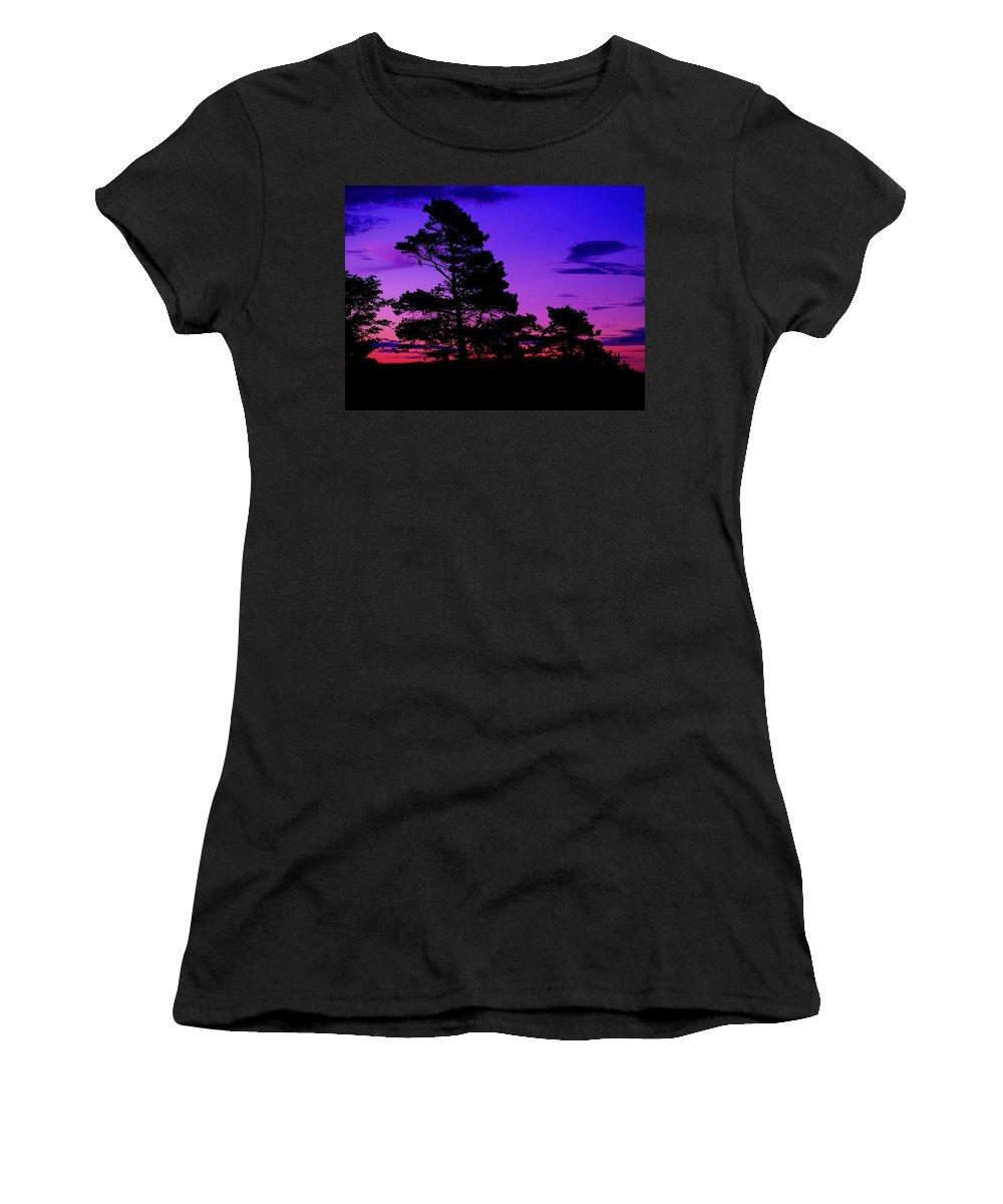 Sunrise Women's T-Shirt (Athletic Fit) featuring the photograph Sunrise At Point Pleasant Park by Laura Regier