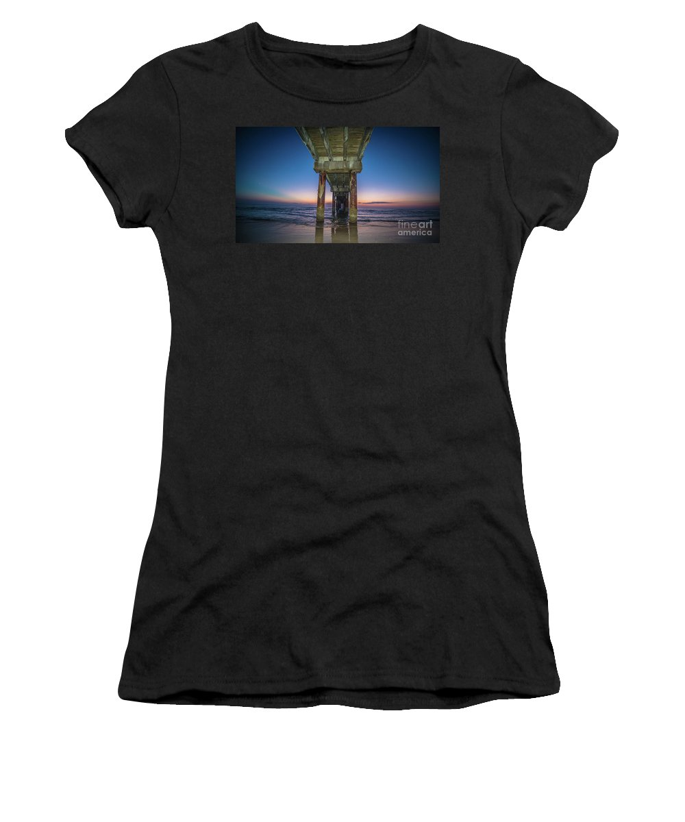Pier Women's T-Shirt (Athletic Fit) featuring the photograph Florida by Buddy Morrison