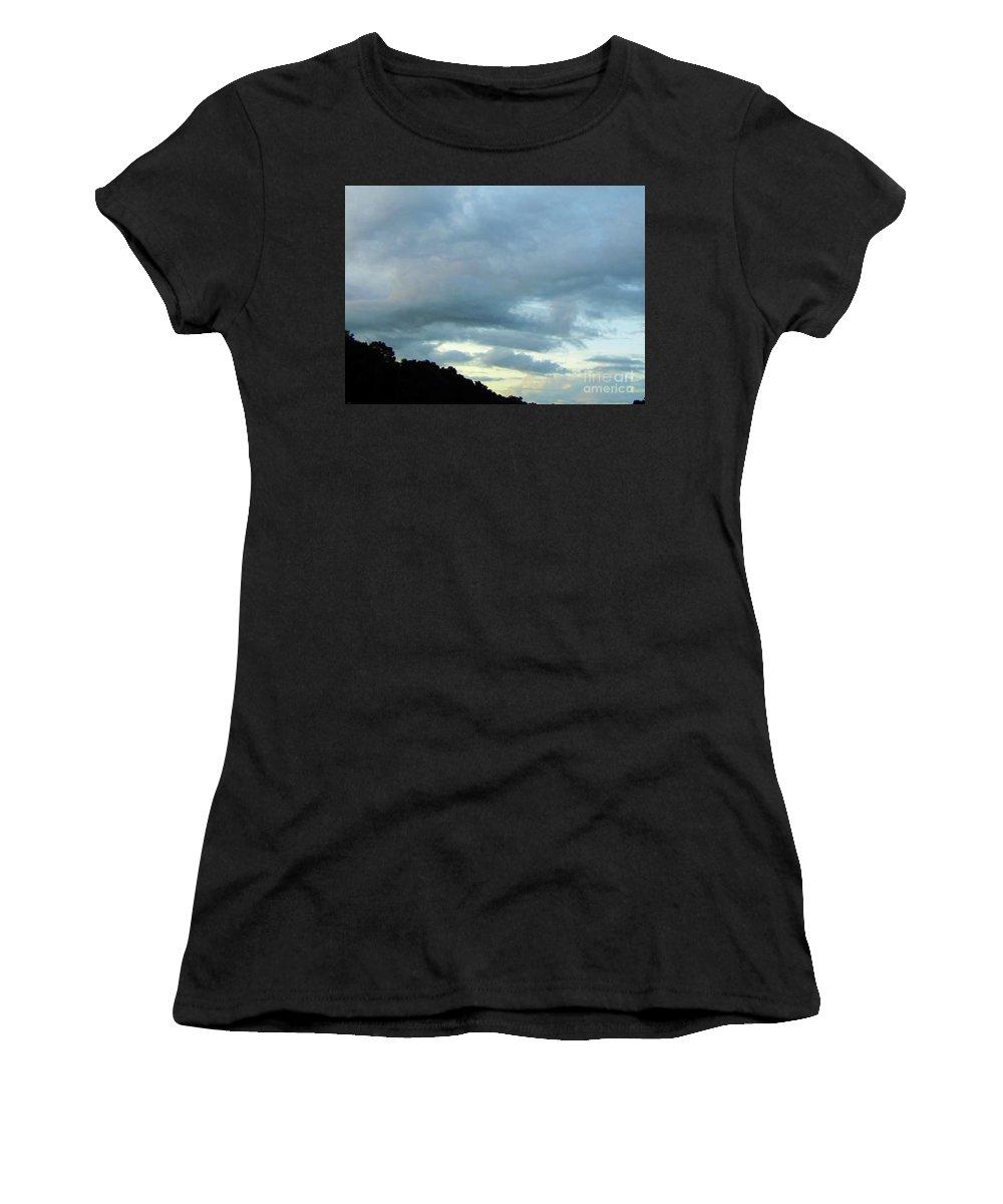 Sunrise Women's T-Shirt featuring the photograph Sunrise Clouds by D Hackett