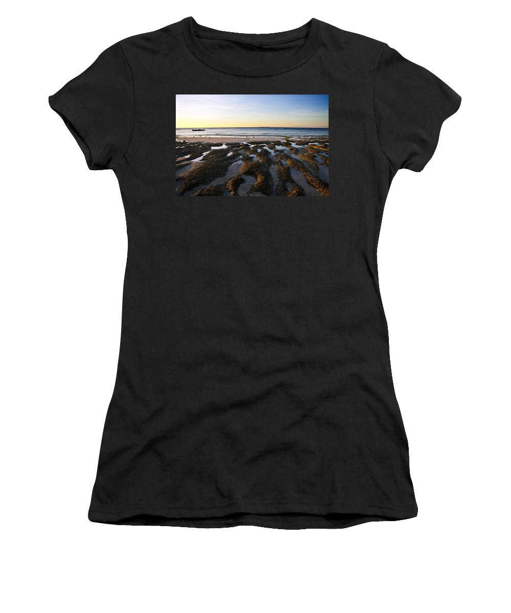 Nature Women's T-Shirt (Athletic Fit) featuring the photograph Sunrise In Bohol by George Cabig