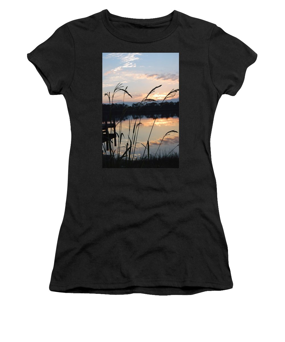 Sunrise Women's T-Shirt (Athletic Fit) featuring the photograph Sunrise In Grayton 3 by Robert Meanor