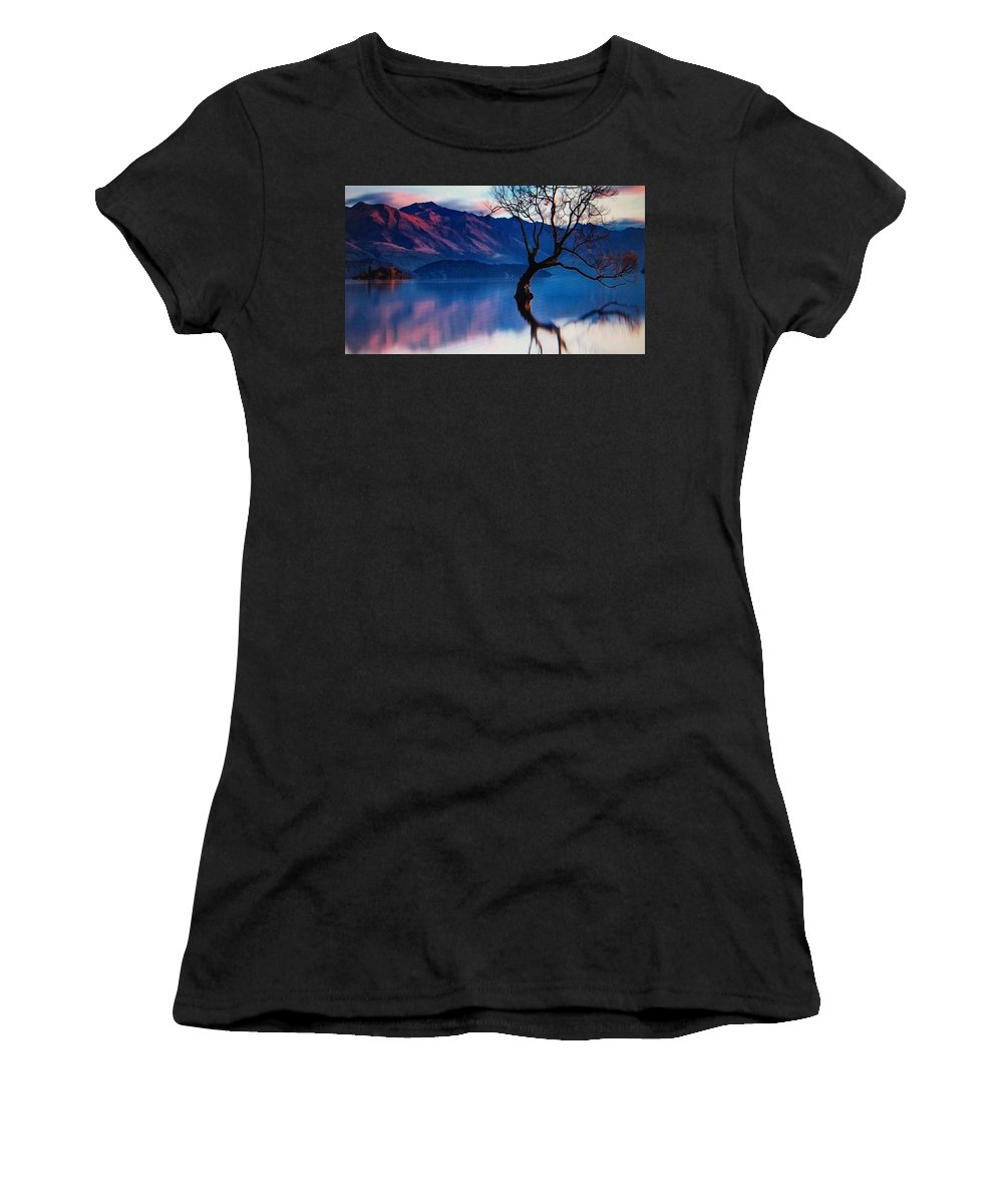 Slovenia Women's T-Shirt (Athletic Fit) featuring the photograph Sunrise In Slovenia by Angele Attard