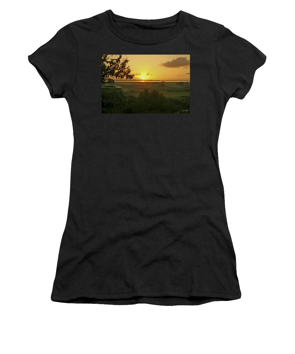 Sunrise Women's T-Shirt (Athletic Fit) featuring the photograph Sun's Up by Phill Doherty