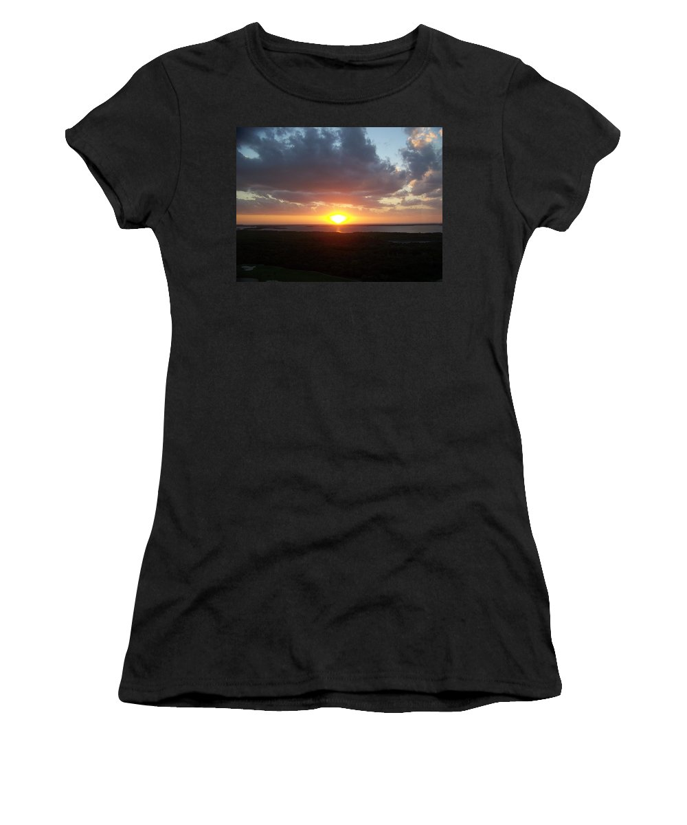 Sunset Women's T-Shirt (Athletic Fit) featuring the photograph Sunset 0026 by Laurie Paci