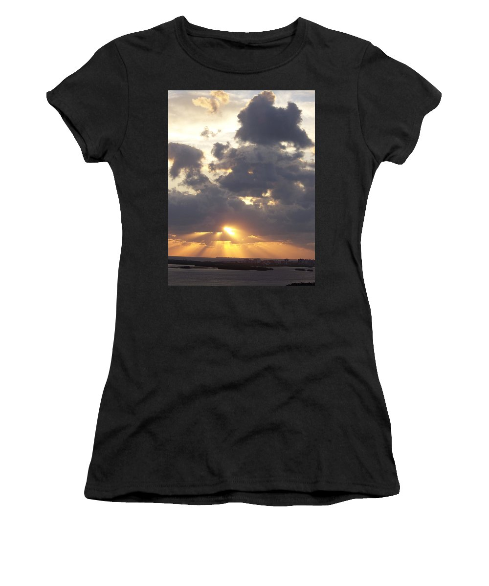 Sunset Women's T-Shirt featuring the photograph Sunset 0045 by Laurie Paci