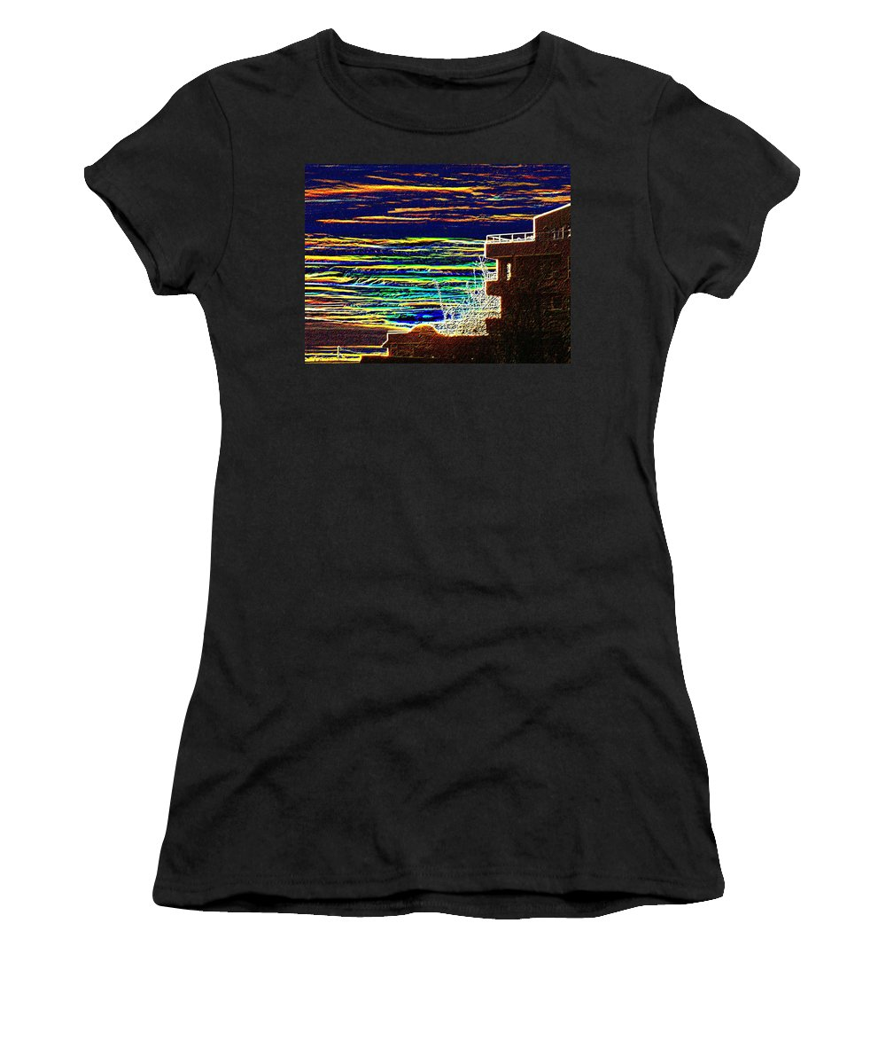 Seattle Women's T-Shirt (Athletic Fit) featuring the digital art Sunset 1 by Tim Allen