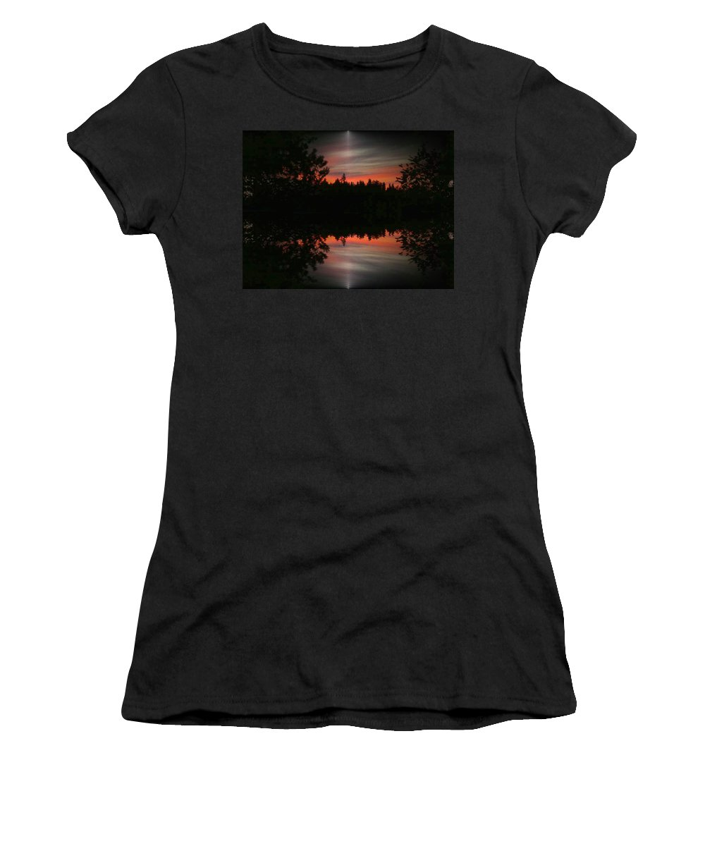 Sunset Women's T-Shirt (Athletic Fit) featuring the photograph Sunset 4 by Tim Allen