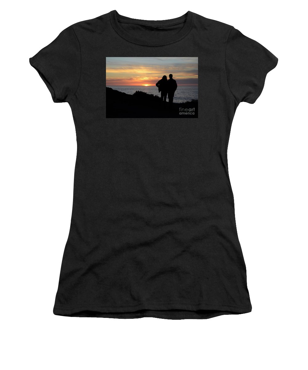 Sunset Women's T-Shirt featuring the photograph Sunset California Coast by Bob Christopher