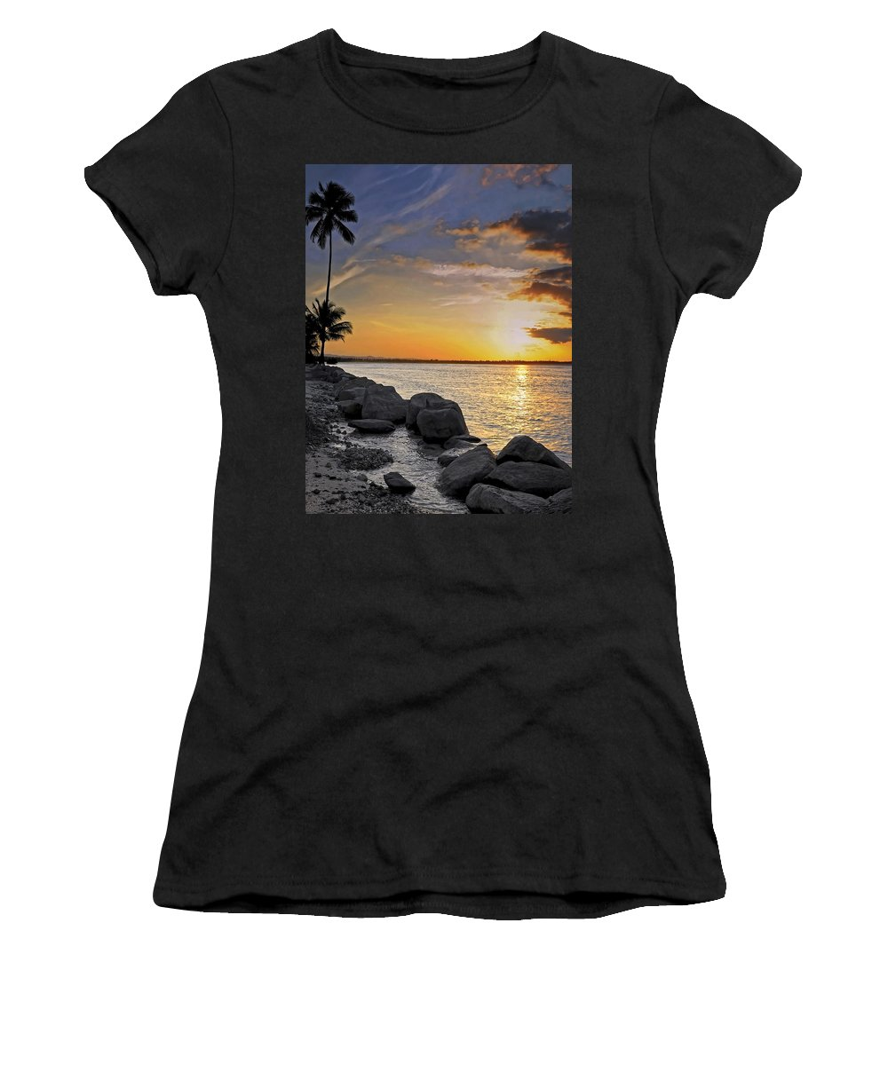 Caribbean Women's T-Shirt featuring the photograph Sunset Caribe by Stephen Anderson