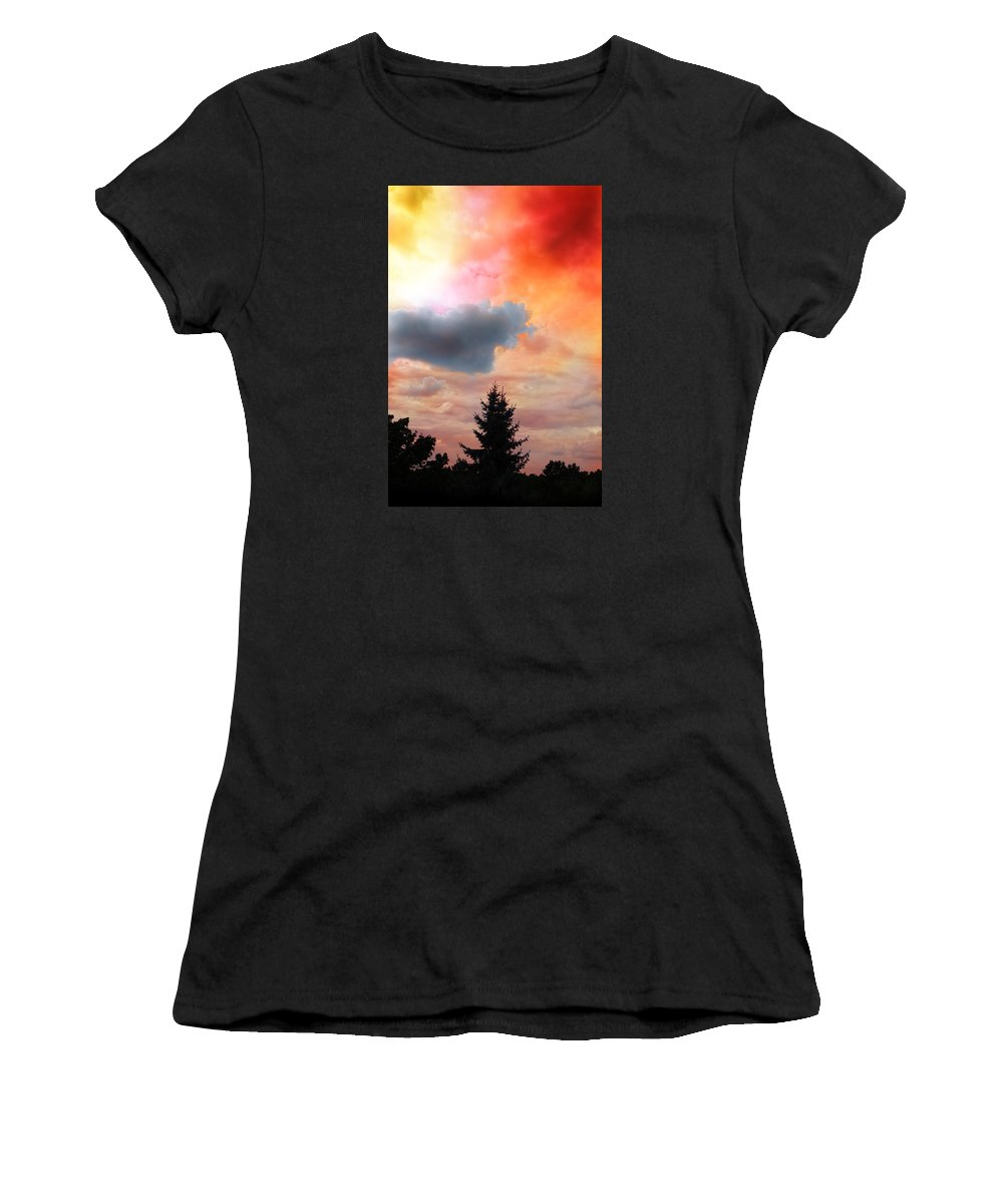 Weather Women's T-Shirt (Athletic Fit) featuring the photograph Sunset Colors by Flavien Gillet