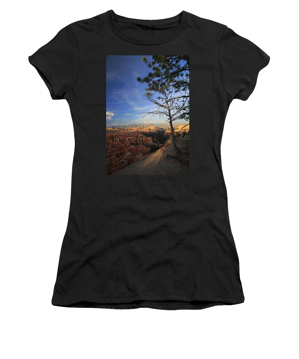 Bryce Canyon Women's T-Shirt (Athletic Fit) featuring the photograph Sunset Colours Bryce Canyon 3 by Mo Barton