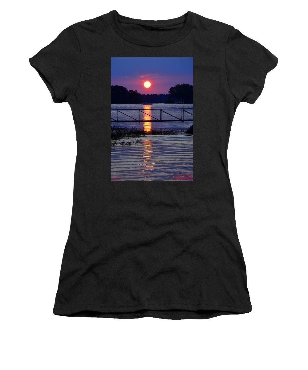 Sunset Cruise Women's T-Shirt featuring the photograph Sunset Cruise by Lisa Wooten