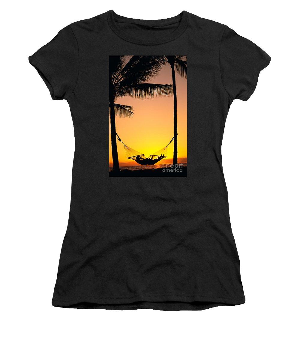 Affection Women's T-Shirt featuring the photograph Sunset Hammock by Dana Edmunds - Printscapes
