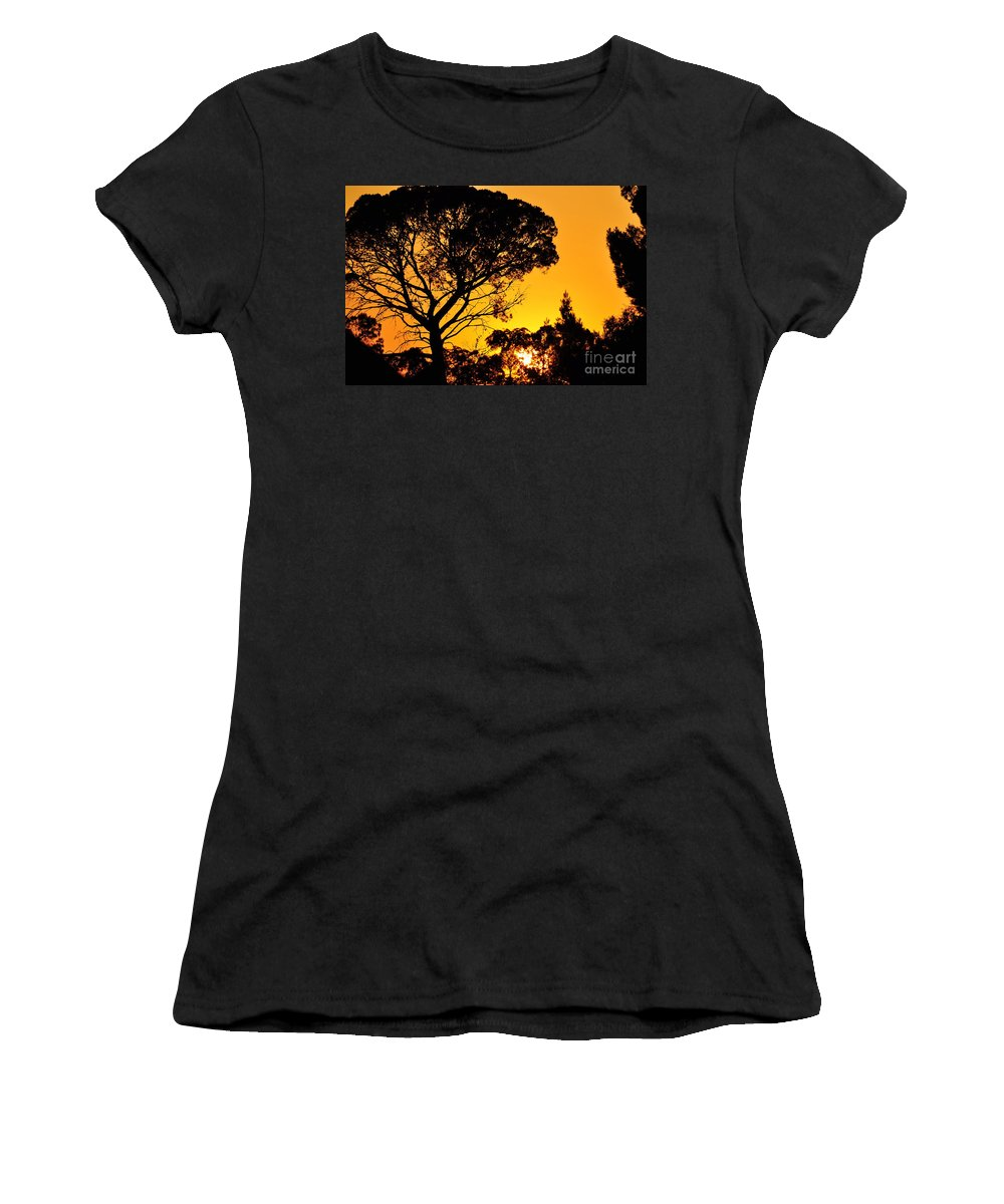 Clay Women's T-Shirt (Athletic Fit) featuring the photograph Sunset In Tujunga by Clayton Bruster