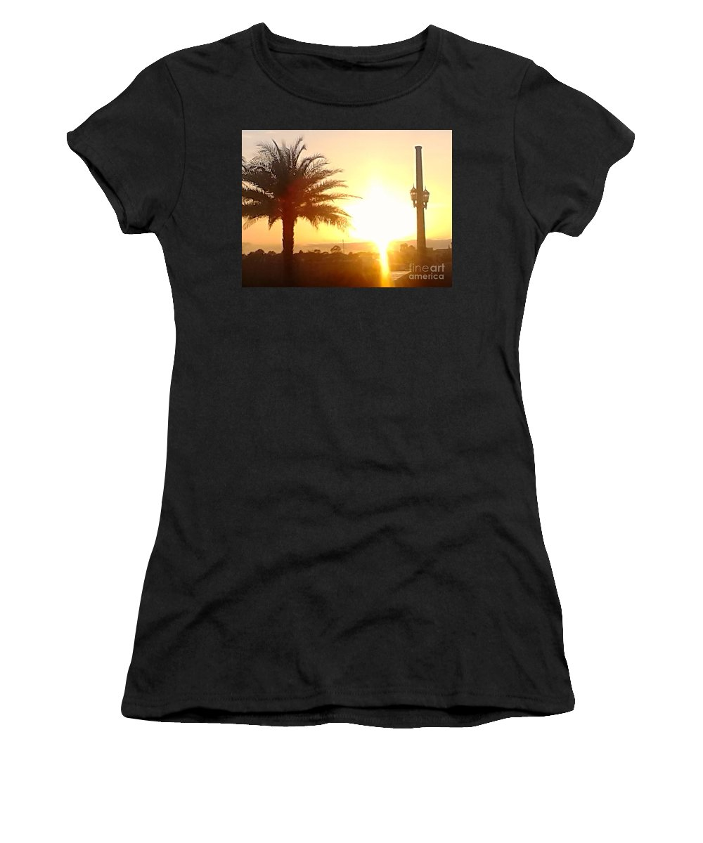 Women's T-Shirt featuring the photograph Sunset Over St Augustine Florida by Patricia Ducher