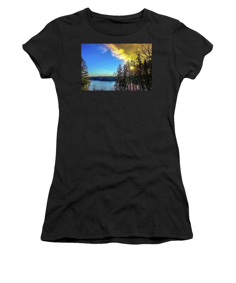 Landscape Women's T-Shirt (Athletic Fit) featuring the photograph Sunstorm by Timm Armitage