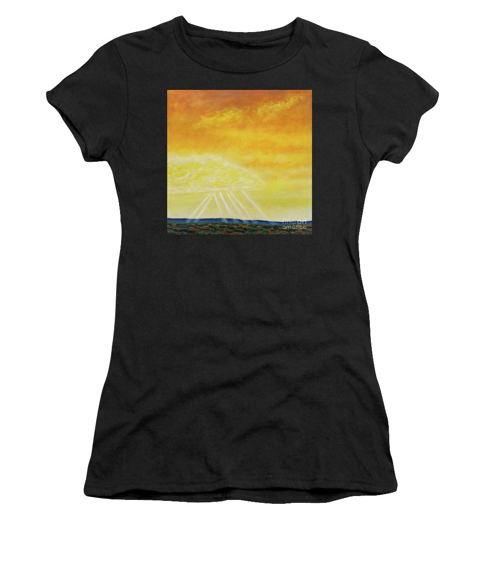 Landscape Women's T-Shirt featuring the painting Super Seven by Brian Commerford