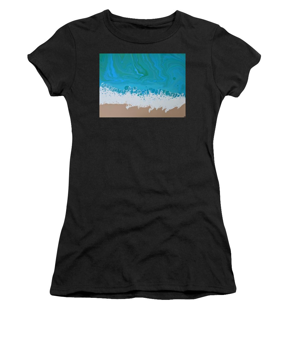 Contemporary Women's T-Shirt featuring the painting Surf by Kylen Mattison