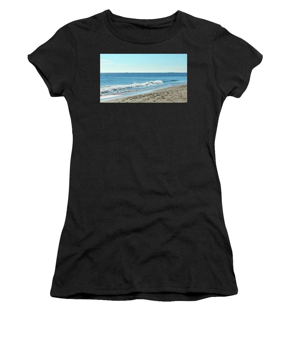 Ocean Women's T-Shirt featuring the photograph Surf Sounds 2 by Ernest Litterick