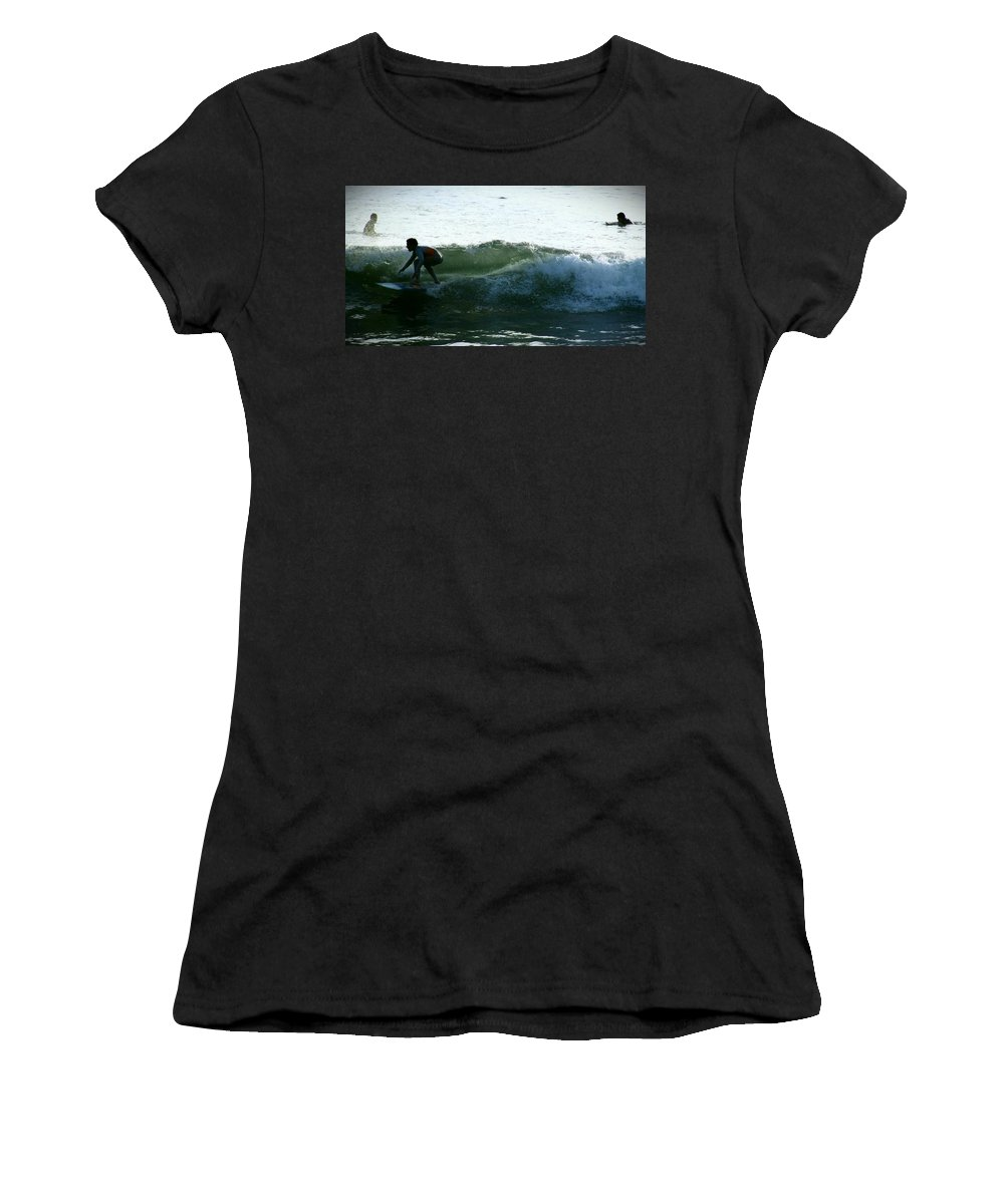 Surf Women's T-Shirt (Athletic Fit) featuring the photograph Surf by Stephanie Haertling