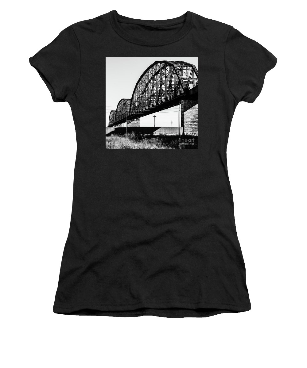 Black Women's T-Shirt featuring the photograph Suspended by Tracey Farmer-Luster
