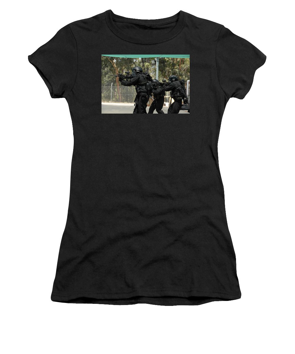 Swat Women's T-Shirt (Athletic Fit) featuring the digital art Swat by Mery Moon