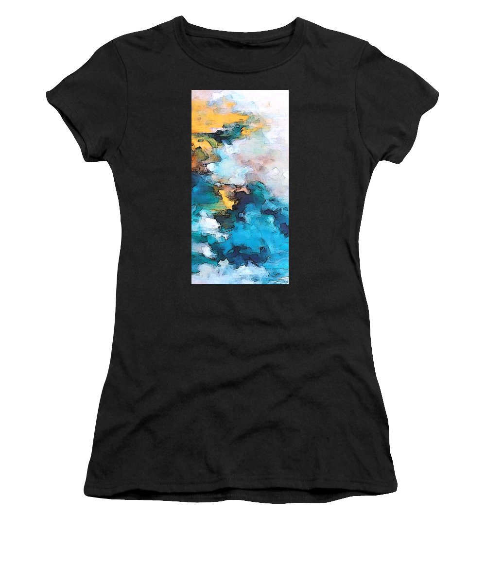 Abstract Women's T-Shirt featuring the digital art Sweet Memory Shades by Linda Mears