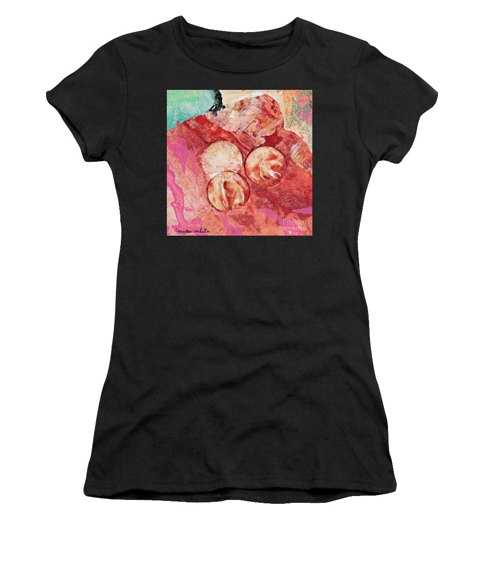 Abstracts Women's T-Shirt featuring the painting Sweet Spot by Pat Saunders-White