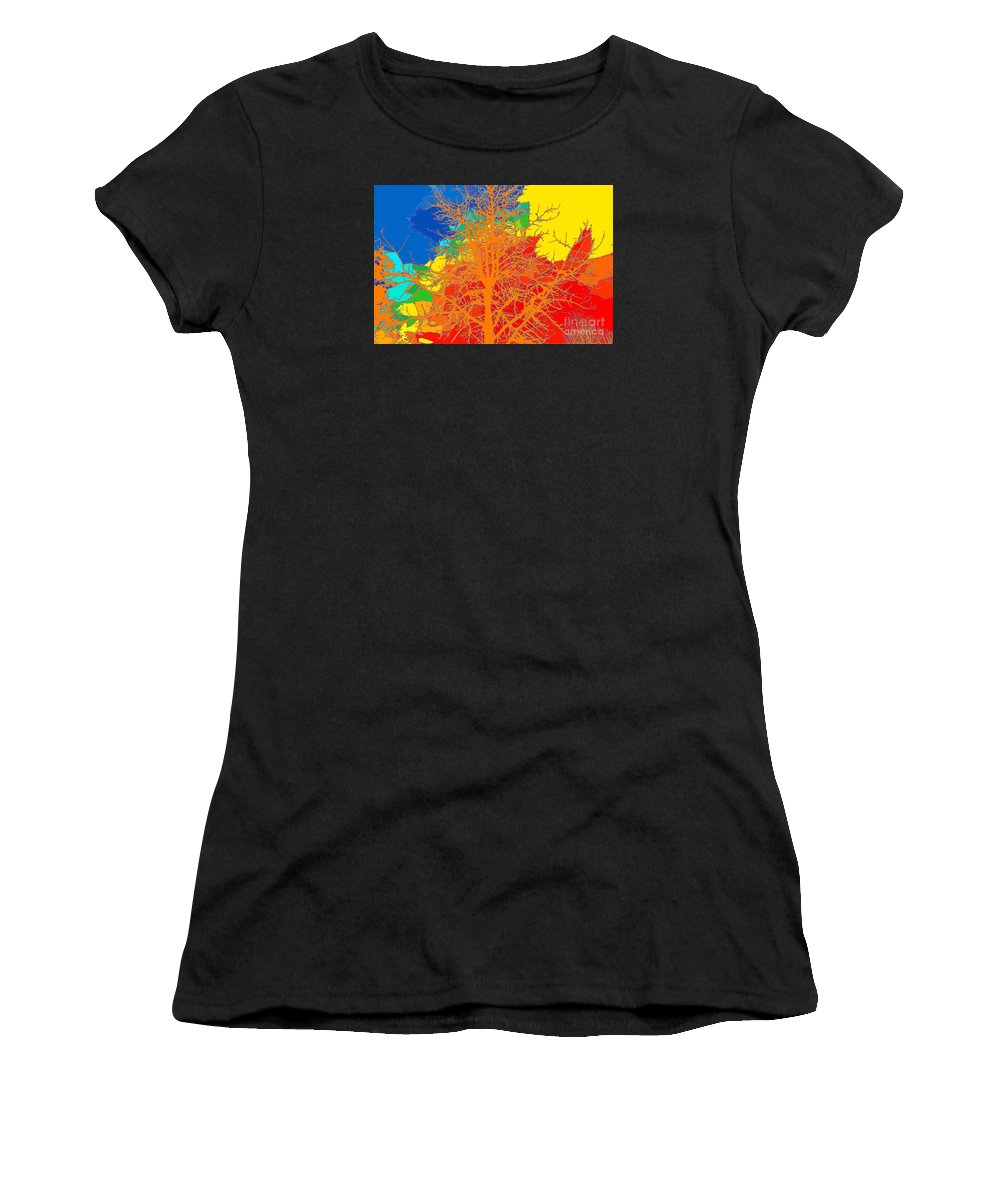 Sweetgum Tree Women's T-Shirt featuring the digital art Sweetgum by Chris Taggart