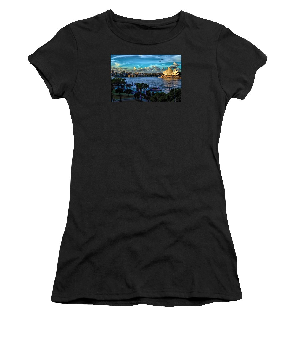 Dianamarysharptonphotography Women's T-Shirt featuring the photograph Sydney Harbor And Opera House by Diana Mary Sharpton