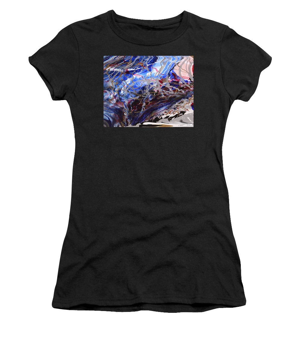 Fusionart Women's T-Shirt (Athletic Fit) featuring the painting Synapse by Ralph White