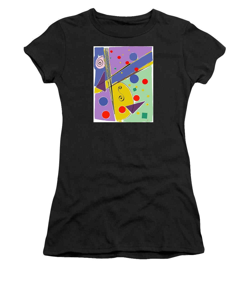 Abstract Women's T-Shirt (Athletic Fit) featuring the digital art Syncopated Rhythm by Lois Boyce