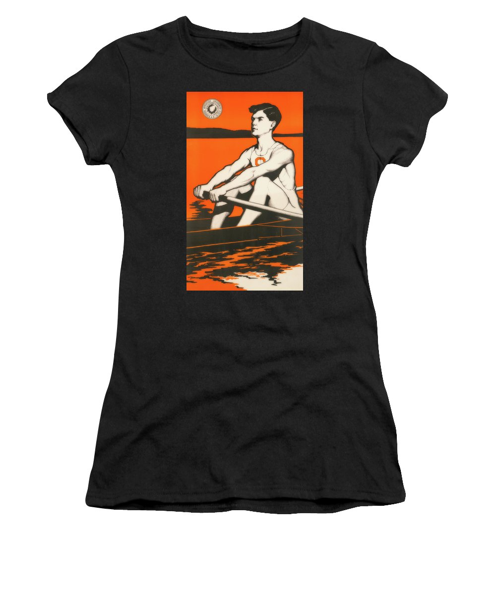 Poster Women's T-Shirt featuring the photograph Syracuse University Crewman by Library Of Congress