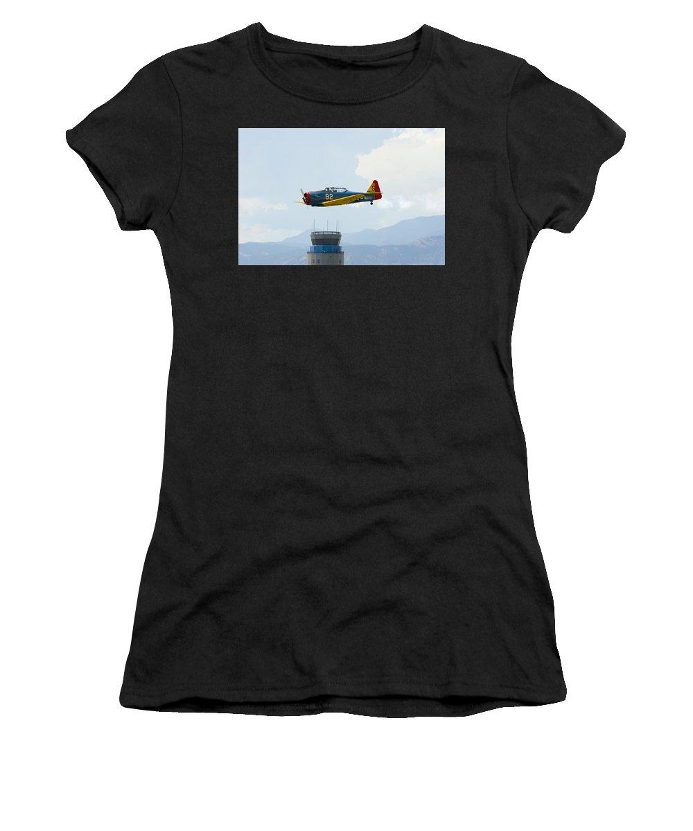 T-6g Women's T-Shirt featuring the photograph T-6g by Brian Jordan
