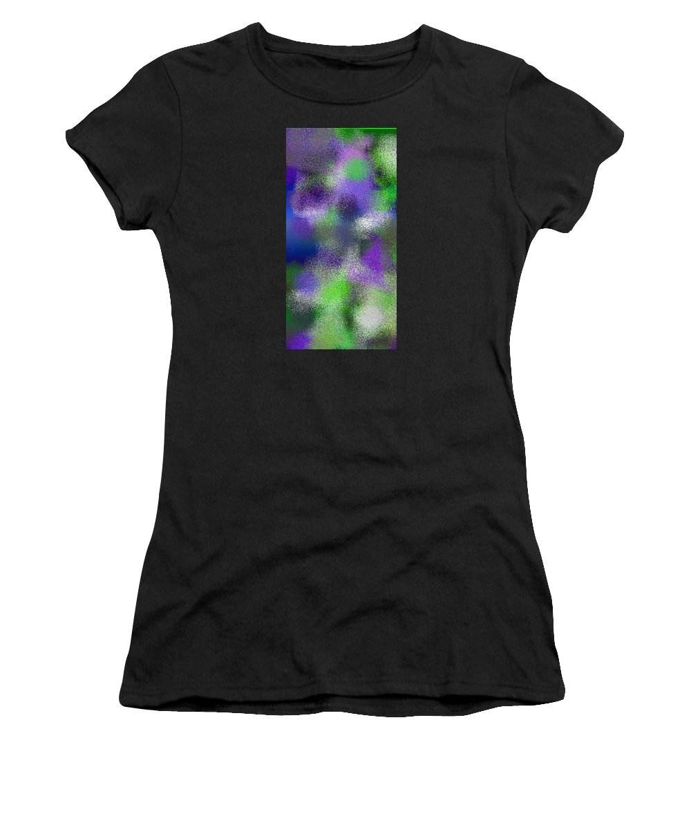 Abstract Women's T-Shirt (Athletic Fit) featuring the digital art T.1.306.20.1x2.2560x5120 by Gareth Lewis