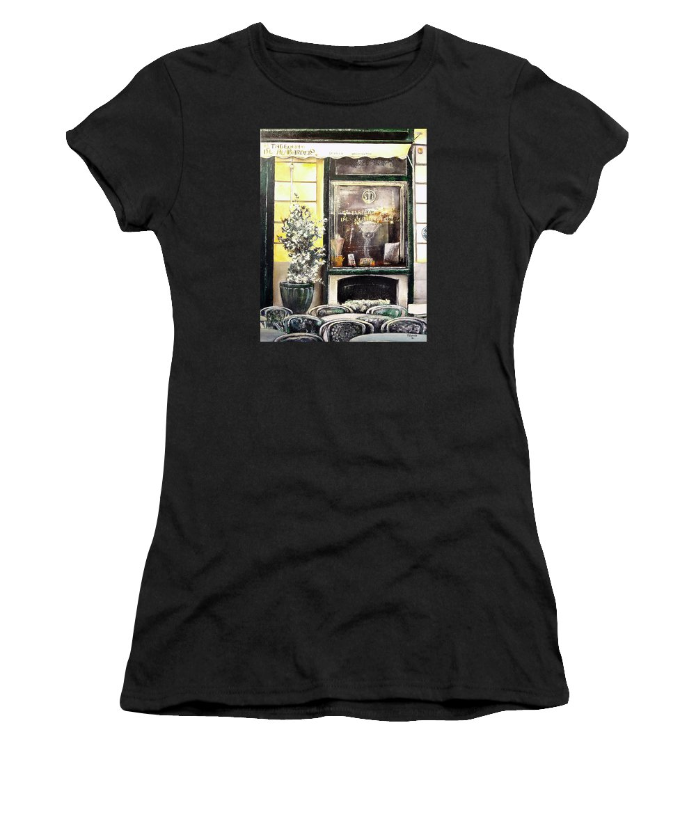 Old Women's T-Shirt (Athletic Fit) featuring the painting Taberna Del Alabardero-madrid by Tomas Castano