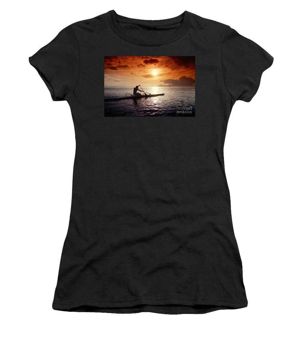A56e Women's T-Shirt featuring the photograph Tahiti, Papeete by Joe Carini - Printscapes