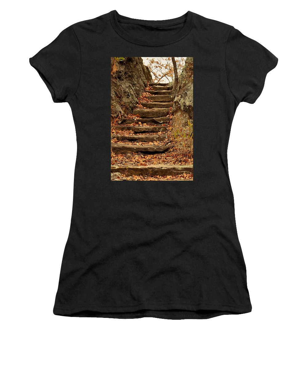 Nature Women's T-Shirt (Athletic Fit) featuring the photograph Take Me To The Top by Sheila Brown