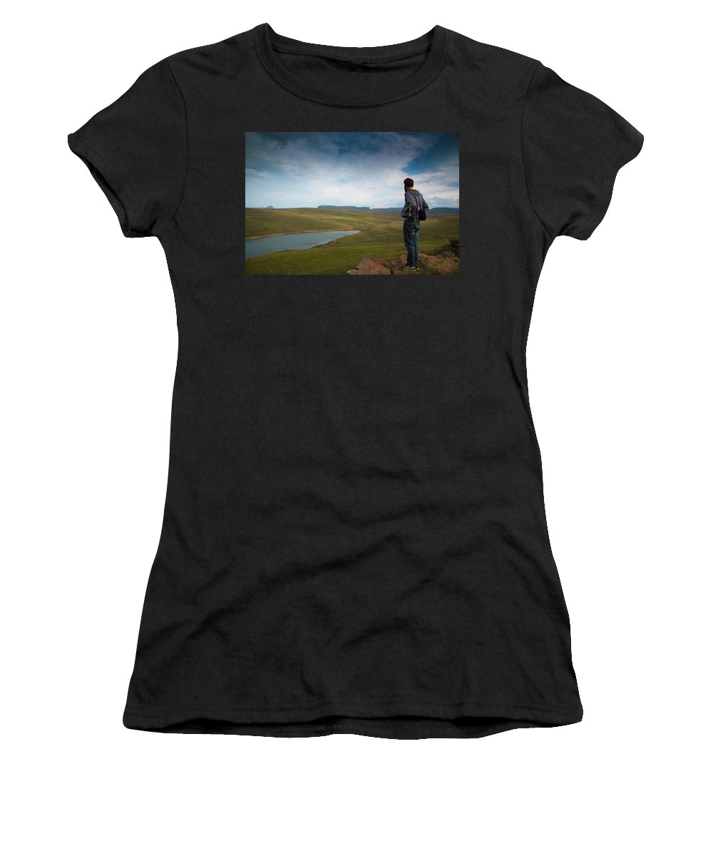 Qwantani Women's T-Shirt (Athletic Fit) featuring the photograph Taking It All In by Gareth Pickering