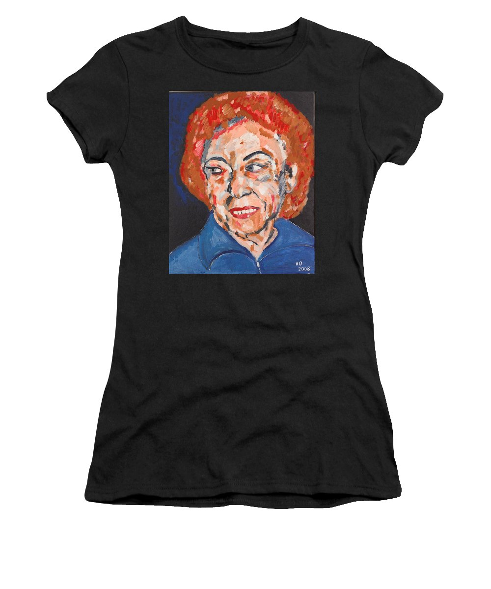Portrait Women's T-Shirt (Athletic Fit) featuring the painting Tamara by Valerie Ornstein