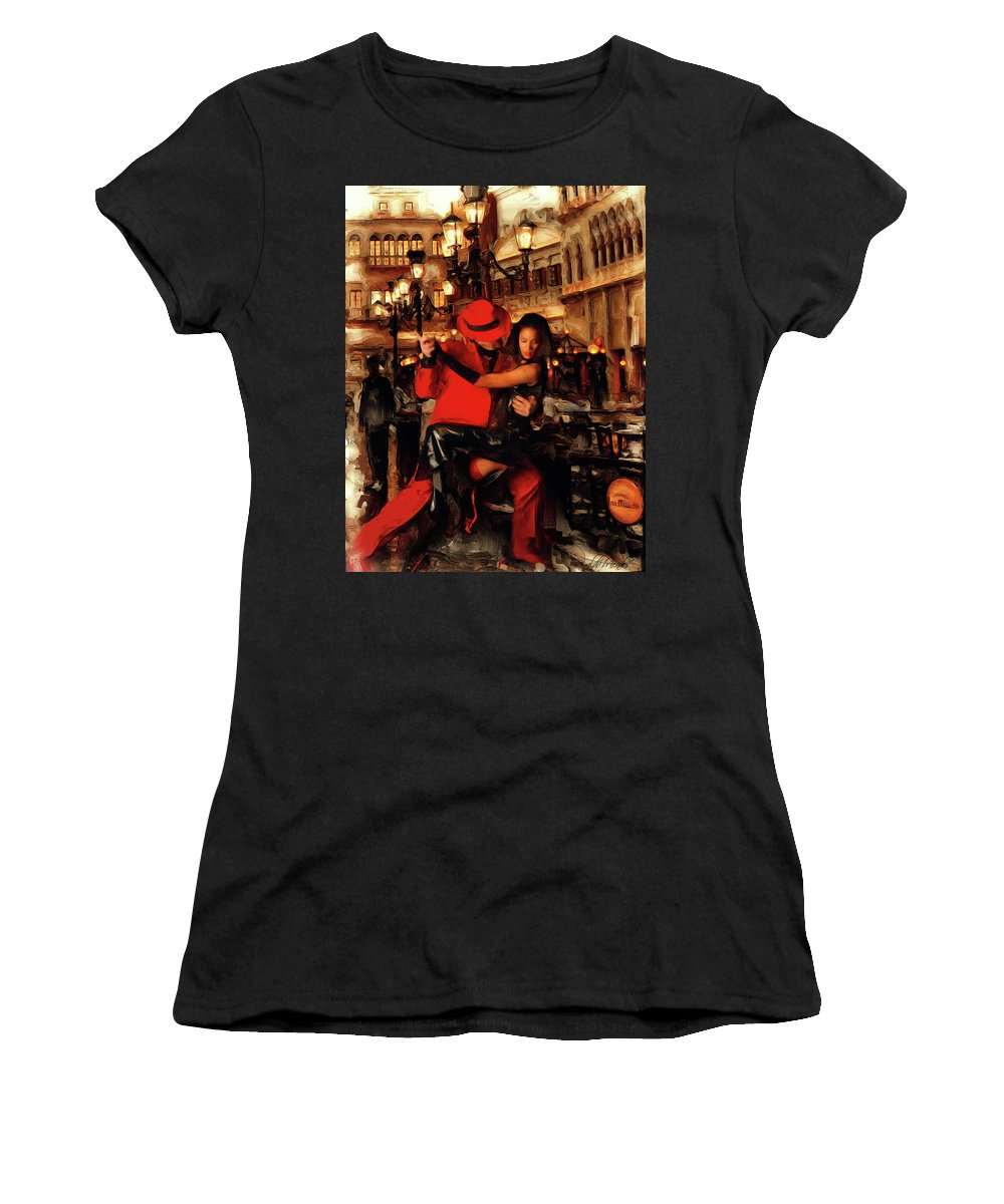 Tango Women's T-Shirt (Athletic Fit) featuring the digital art Tango by Rinaldo Mendes