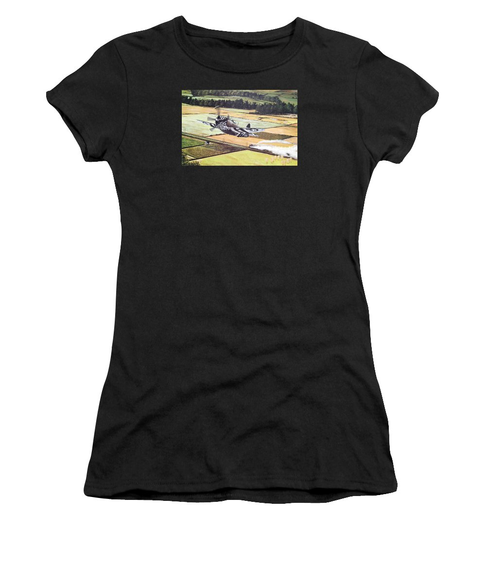 Military Women's T-Shirt (Athletic Fit) featuring the painting Target Of Opportunity by Marc Stewart