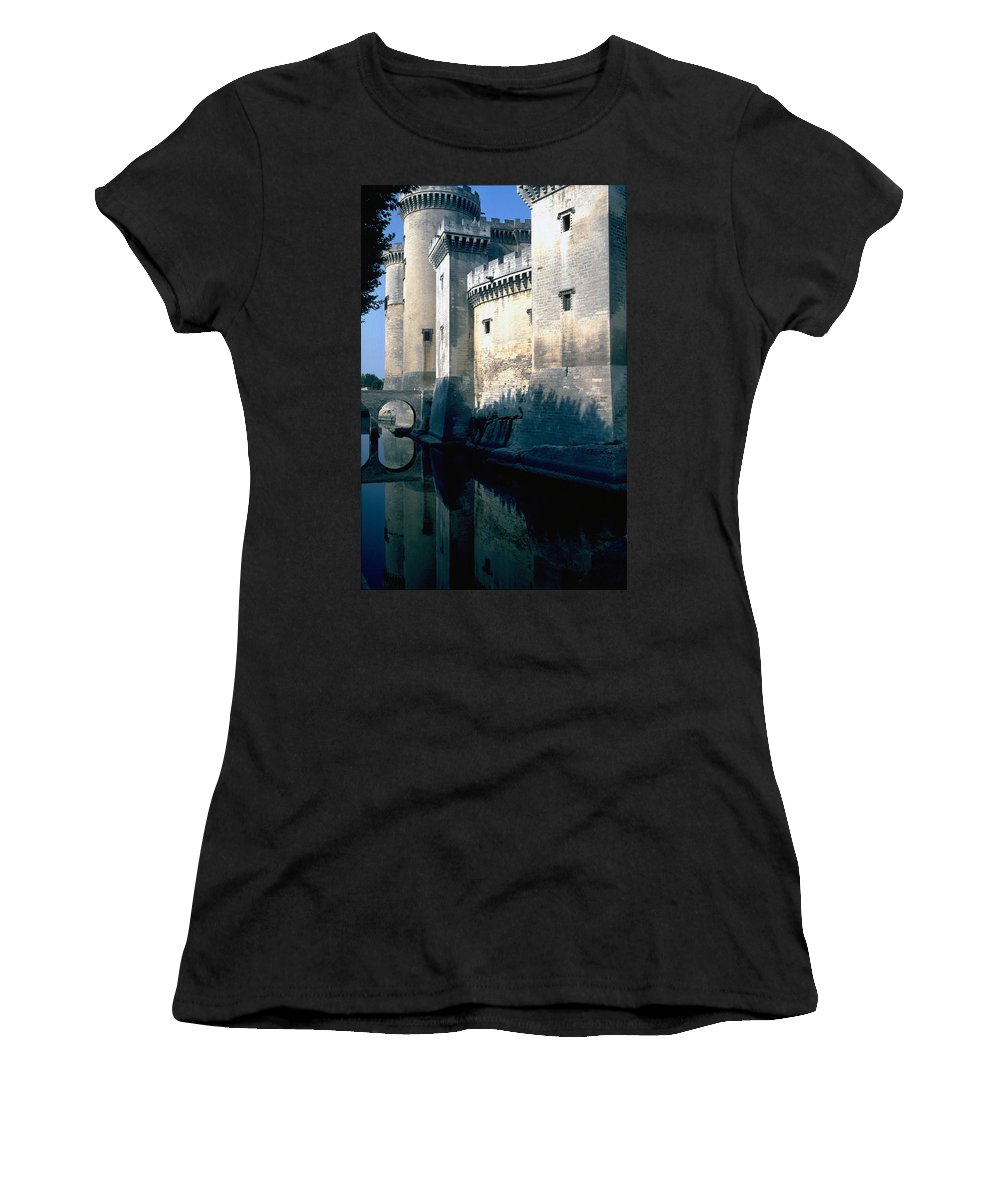 Tarragon France Castle Women's T-Shirt featuring the photograph Tarragon France by Flavia Westerwelle