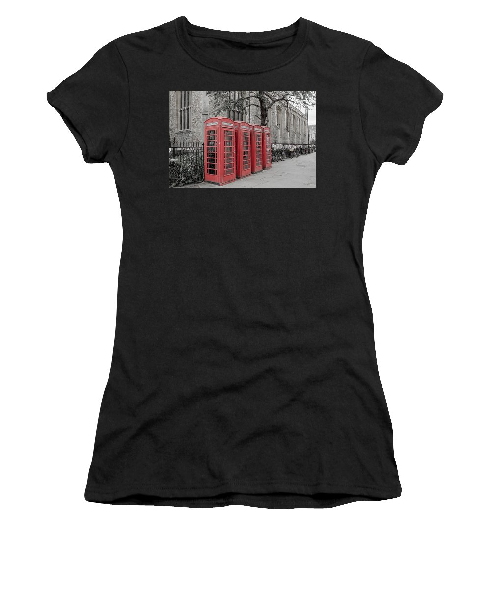 Phone Women's T-Shirt featuring the photograph Telephone Boxes by Shanna Hyatt