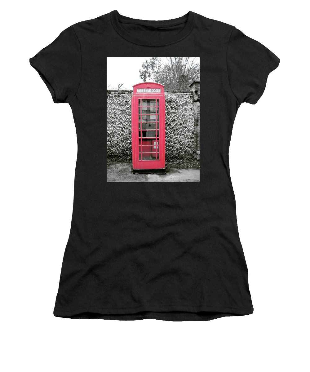Telephone Women's T-Shirt (Athletic Fit) featuring the photograph Telephone by Julia Raddatz